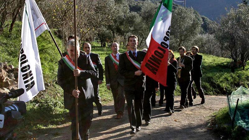 Szene aus Bye Bye Berlusconi!